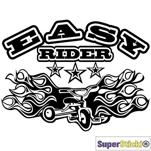 SUPERSTICKI Easy Rider driewieler vuur tribal autosticker 15 cm autosticker tuning racesport hobby decoratie