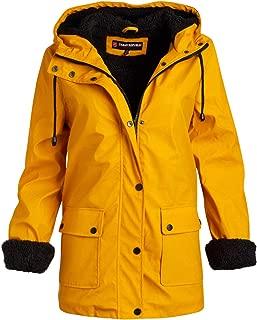 Urban Republic Ladies Hooded Vinyl Rain Jacket with Fur Lining (Plus