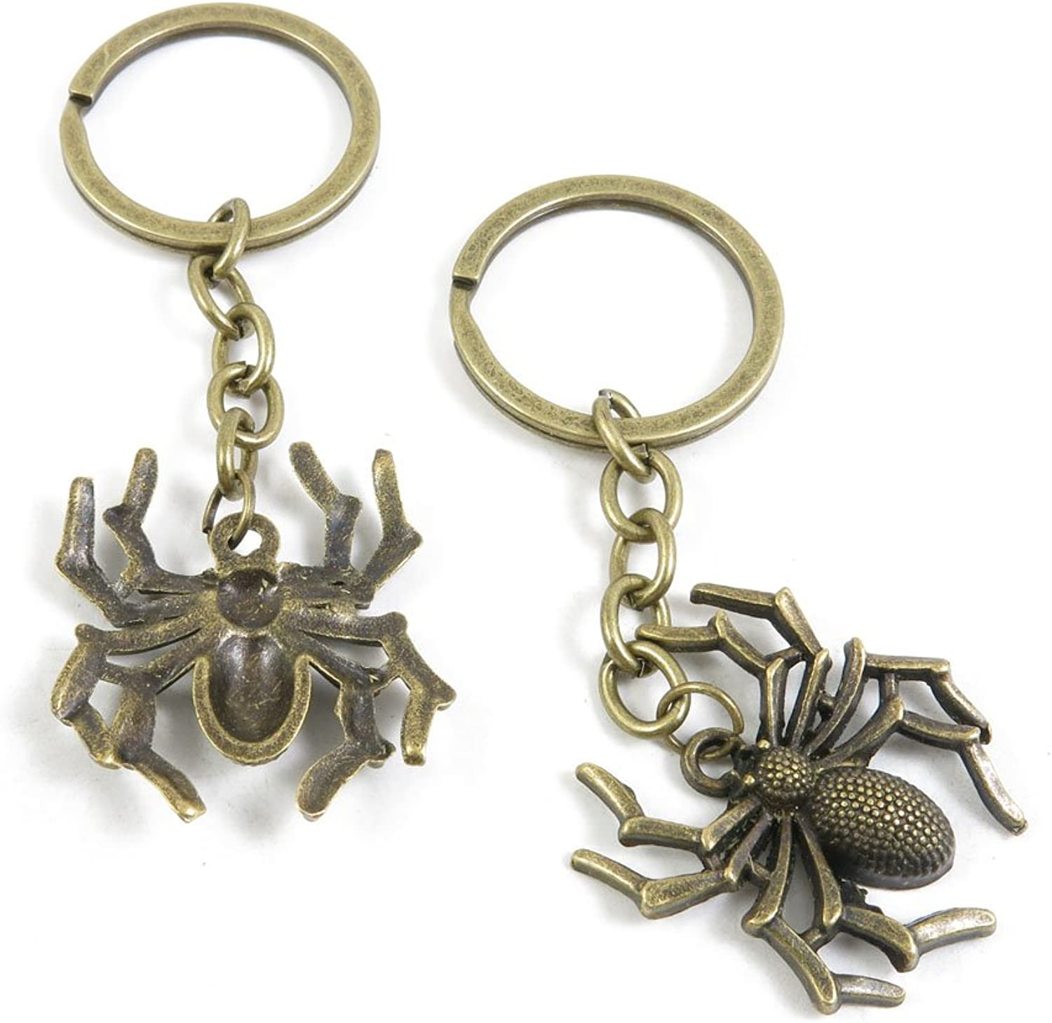 140 Pieces Fashion Jewelry Keyring Keychain Door Car Key Tag Ring Chain Supplier Supply Wholesale Bulk Lots K1WY3 Spider