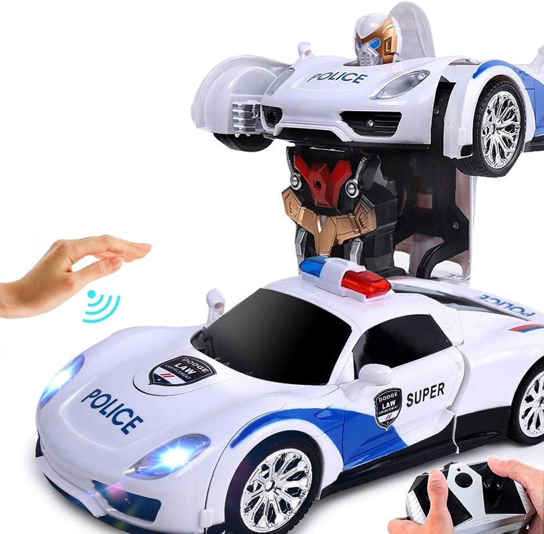 Ycco Transformation Robot Car, Fernbedienung Action Deformation Figur ShapeShift Modellauto One Touch Verwandlung Auto Roboter Modelle Fernbedienung Autos Deformation Spielzeug für Jungen Kinder Kind