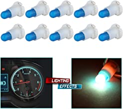 cciyu 10 Pack Ice Blue T4/T4.2 Neo Wedge Halogen Bulb Replacement fit for Dash A/C Climate Control Instrument Cluster Panel Dashboard Gauges Light