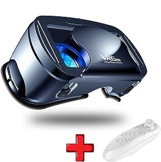 VR Gafas 3D de Realidad Virtual, con Controlador Bluetooth, Ajustable 3D y Juegos de Vídeo Compatible con iOS Android, Compatible 5 Inch - 7 Inch Pulgadas Smartphone