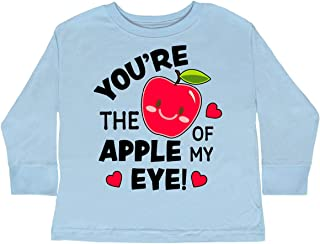 inktastic Youre The Apple of My Eye Valentine Pun Toddler Long Sleeve T-Shirt