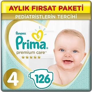 Prima Bebek Bezi Premium Care, 4 Beden, 126 Adet, Maxi Aylık Fırsat Paketi