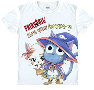 Erza Scarlet Gray Fullbuster T Shirt Taille Asiatique Natsu Dragneel Etherious Jeylu Fairy Tail Lucy Heartphilia Cosplay