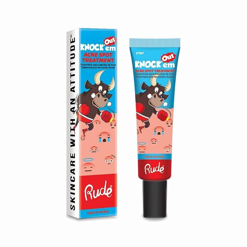 さらに廃棄する愚か(3 Pack) RUDE Knock'em Acne Spot Treatment (並行輸入品)