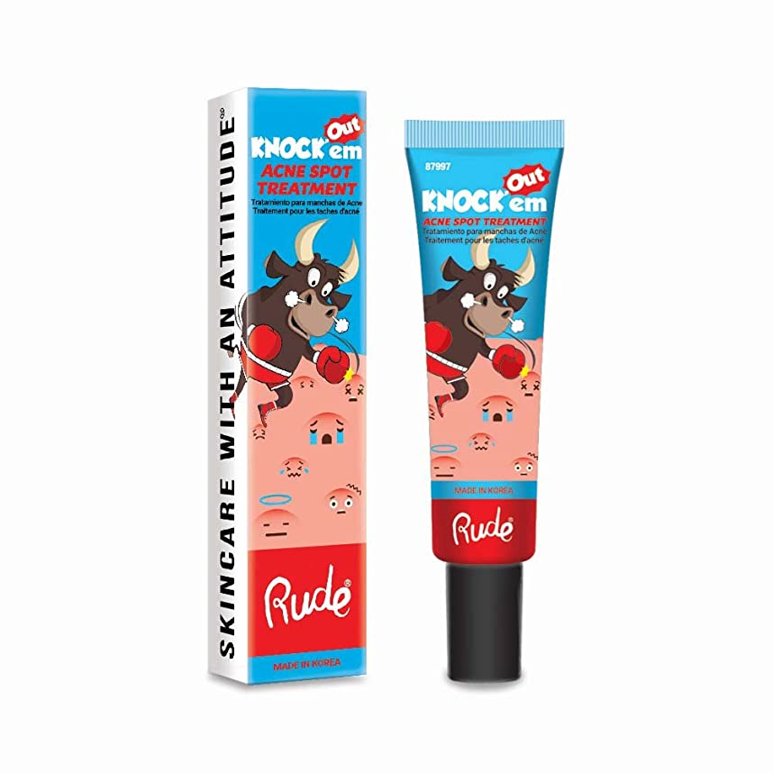 カール完璧な火炎(3 Pack) RUDE Knock'em Acne Spot Treatment (並行輸入品)