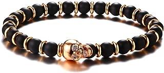 Best gold skull head beaded bracelet Reviews