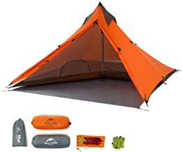 Naturehike Trekking Pole Tent Ultralight 1 Person 3 Season Tent, Lightweight Pyramid Tent for Mountaineering Hiking Camping