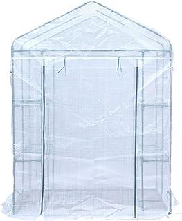 Invernaderos Plastico huerto terraza RAS de Suelo: al Aire Libre, en Interiores, con estantes Resistentes: cultive Plantas, Plantas de semillero, Hierbas o Flores en Cualquier Estante de