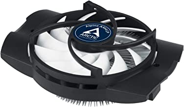 ARCTIC Alpine AM4 LP - Low Profile CPU Cooler for AMD Socket AM4, Silent Fan and Quiet Processor Cooler, PWM Technology, Easy Installation and Low Power Consumption, Up to 75 W