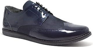 Hakiki Deri Lacivert Büyük Numara Klasik Erkek Ayakkabı