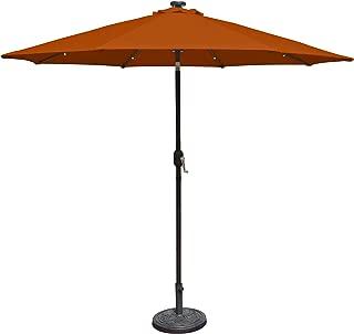 Island Umbrella N5424TC Mirage Fiesta Octagonal Market Umbrella, 9-ft, Terra Cotta Olefin