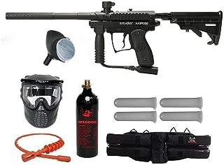 MAddog Kingman Spyder MR100 Silver Paintball Gun Package - Diamond Black