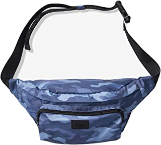 New! Oversized Belt Bag, Blue Camo