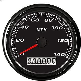 Auto Meter Auto Motorcycle 85mm GPS Speedometer 0-140MPH Odometer Mileage Adjustable Overspeed Alarm Gauge