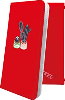 Xperia Z SO-02E ケース 手帳型 サボテン 赤 花 花柄 フラワー エクスペリア 手帳型ケース 植物 砂漠 果肉植物 SO02E XperiaZ ロゴ ロゴ入り ワンポイント