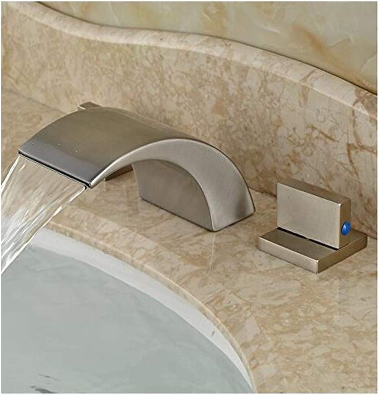 Faucet Modern Plated Mixer Faucet Bathroom Sink Mixer Tap Basin Vessel Countertop Mixer Taps Waterfall Water Faucet