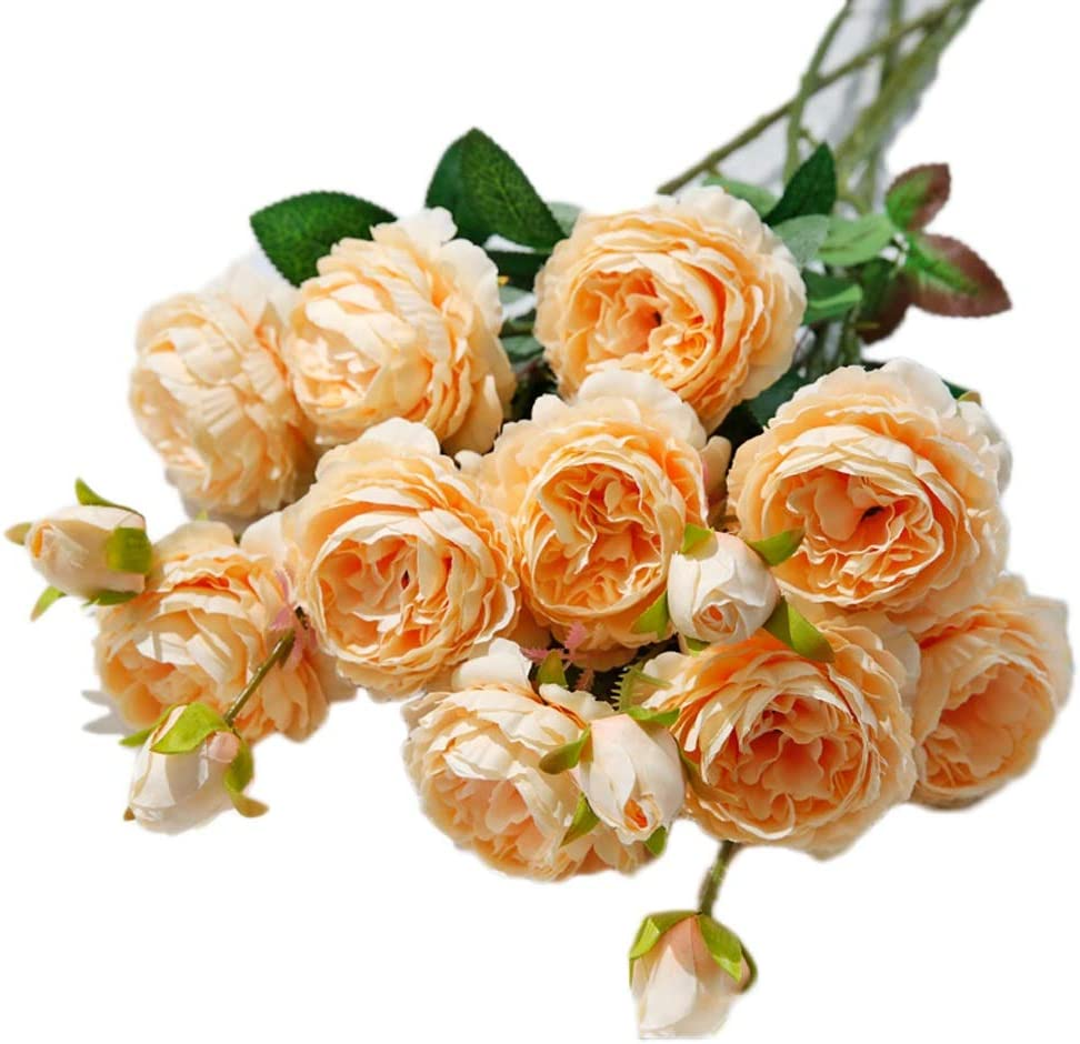QUETW Artificial Flowers 5 Cheap super special price Branches Super popular specialty store Fake Peony Vivid Flower Silk