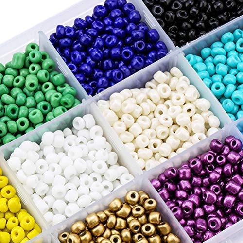 """Newooh Conjunto de 24 pulseiras de amizade para fazer pulseiras de amizade kit """"faça você mesmo"""" com letras e berloques suprimentos para crianças"""