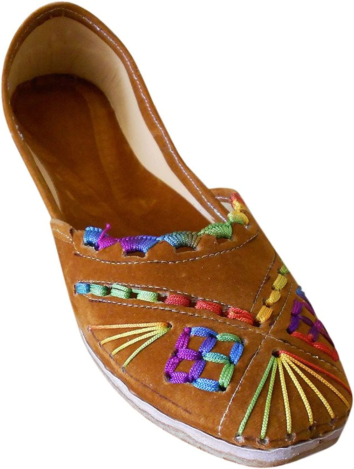 Kalra Creations Jutti Women's Traditional Indian Velvet with Embroidery Party shoes