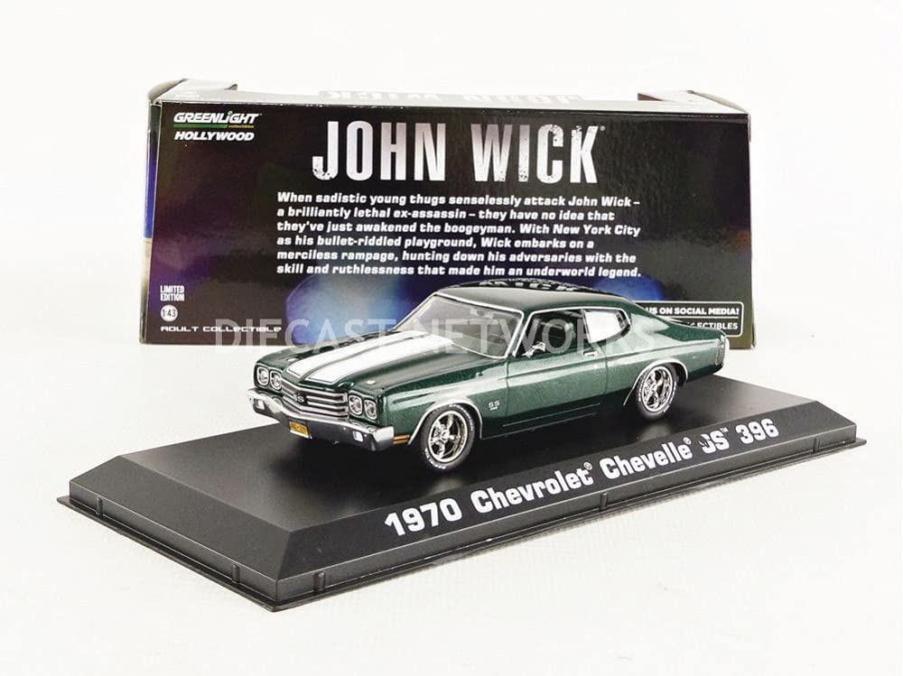 Greenlight 86541 1: Ranking TOP14 43 John Wick 2014 - Selling and selling Chevell Chevrolet 1970