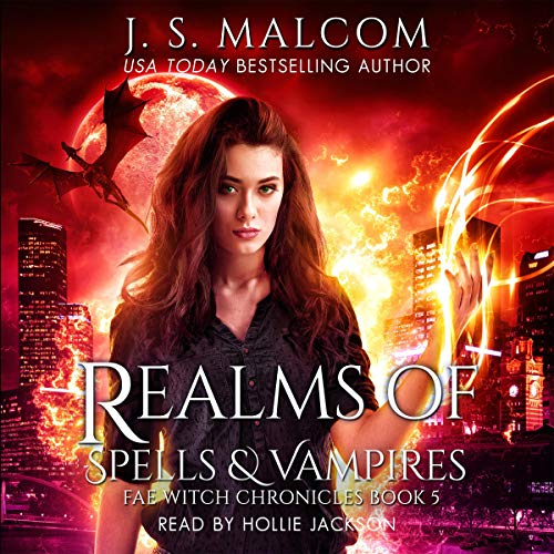 Realms of Spells and Vampires audiobook cover art