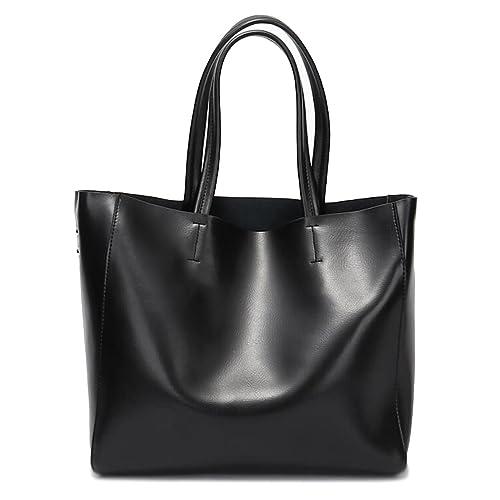 2aa36ca21a Covelin Women s Handbag Genuine Soft Leather Tote Shoulder Bag Hot