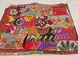 Tribal Asian Textiles - Copriletto in puro cotone fatto a mano, per letto queen size, Kantha Stitch Kantha, trapuntato indiano, reversibile, 25 pezzi