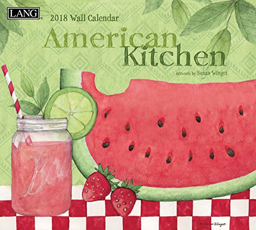 """LANG - 2018 Wall Calendar -""""American Kitchen"""" - Artwork by Susan Winget - 12 Month - Open Size, 13 3/8"""" X 24"""""""