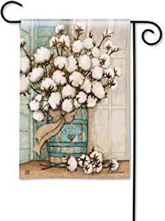 BreezeArt Studio M Cotton Bolls Decorative Spring Summer Garden Flag – Premium Quality, 12.5 x 18 Inches