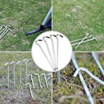 QincLing 14 PCS Tent Pegs, Metal Tent Hooks Steel Camping Tent Nail Pegs Stakes Heavy Duty Lightweight Long Tent Pegs… 6