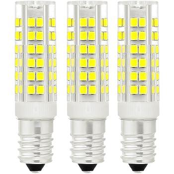 LED maíz bombilla 7W E14 6000K blanco frío, equivalente a bombilla halógena de 40W, 360 ° Ángulo de haz, AC220-240V No regulables Pack de 3: Amazon.es: Iluminación