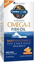 Garden of Life EPA/DHA Omega 3 Fish Oil - Minami Natural Brain Function, Heart and Mood Supplement, 30 Soft...