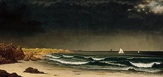 Berkin Arts Martin Johnson Heade Giclee Canvas Print Paintings Poster Reproduction(Approaching Storm)