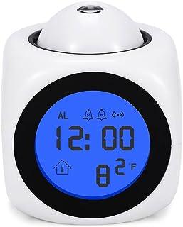 LEDデジタル 目覚まし時計 投影クロック iitrust プロジェクター 多機能 時間お知らせ おしゃれ 置き時計 デジタル 置き時計 日英語取扱説明書付き ホワイト iitrust並行輸入品