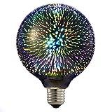 Lixada LED 3D Feuerwerk Glühbirne/Kreative Bunte Dekorative Lampe Für Home Bar Cafe Party Hochzeit/Show Ornament Store, 85V-265V 6W E27 A60 Filament