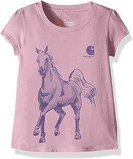 Girls' Short Sleeve Cotton Graphic Tee T-Shirt