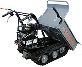 Dirty Hand Tools   101872   All Terrain Power Cart with 6.5 HP 196cc Engine   7 Inch Wide Tracks   4 Speed Transmission   660 Pound Load Capacity with Tipping Handle and Removable Sides