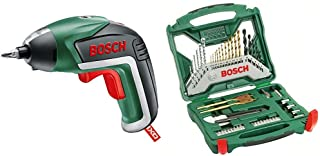 Bosch IXO Cordless Screwdriver with Integrated 3.6 V Lithium-Ion Battery with X-Line Accessory Set, 50 Pieces