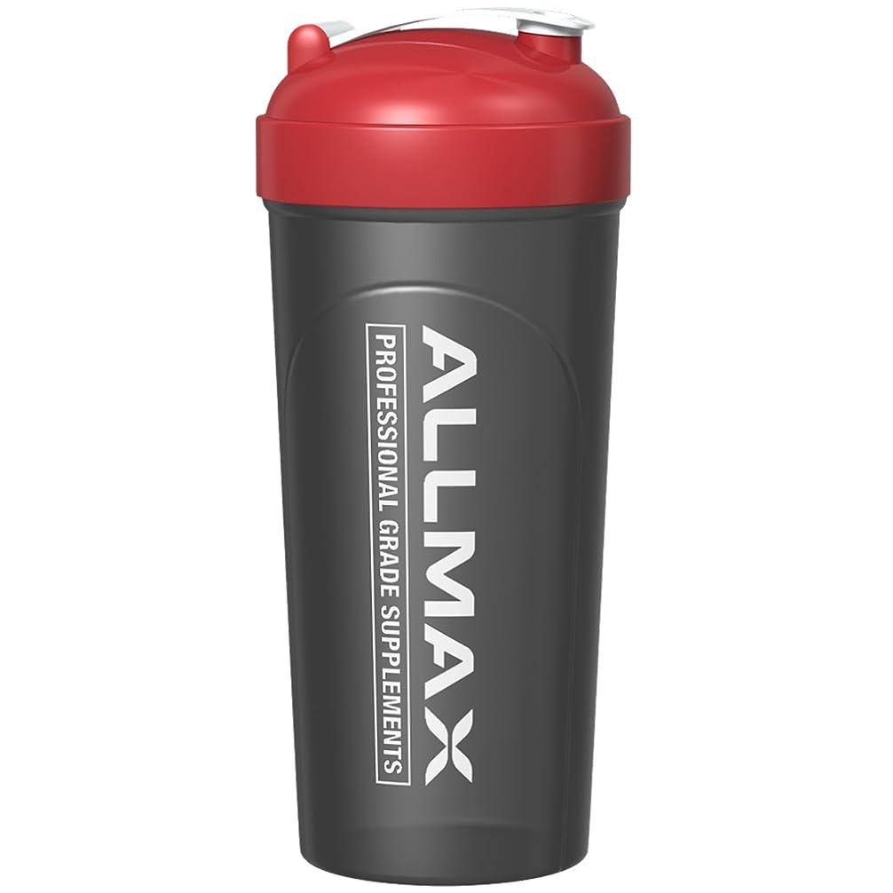 前文城ぴったりALLMAX Nutrition, ボルテックスミキサー付き漏れ防止シェーカーボトル, 25 oz (700 ml)