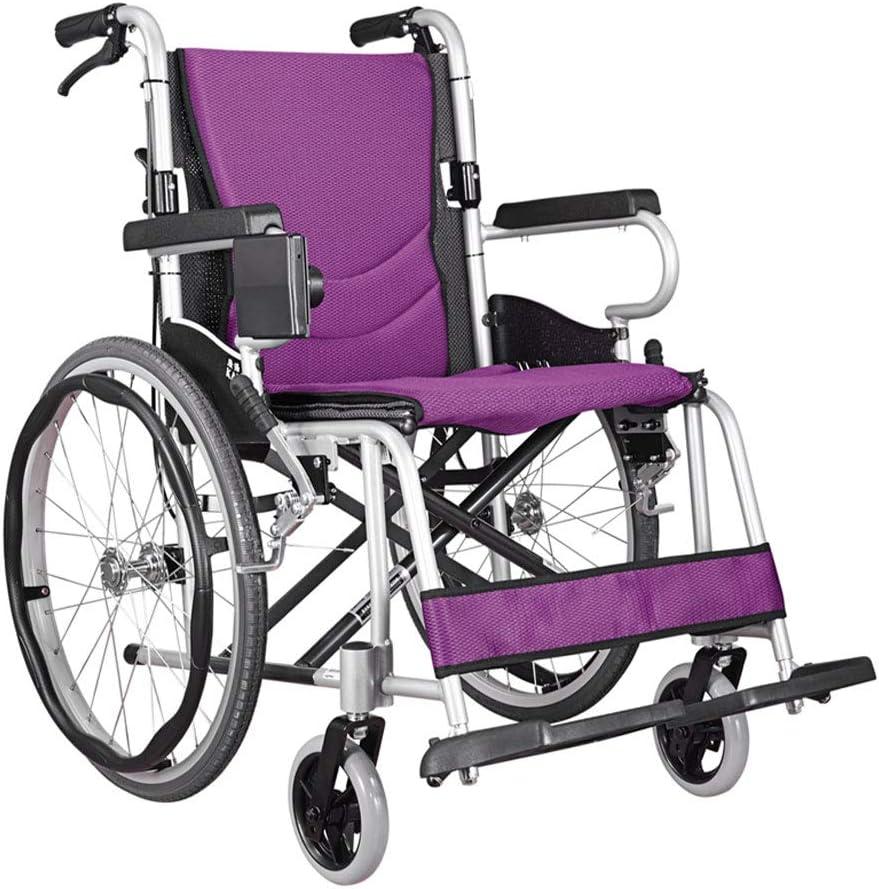 At the price Elderly Wheelchair Foldable Aluminum Miami Mall Material Alloy Non-Pneuma