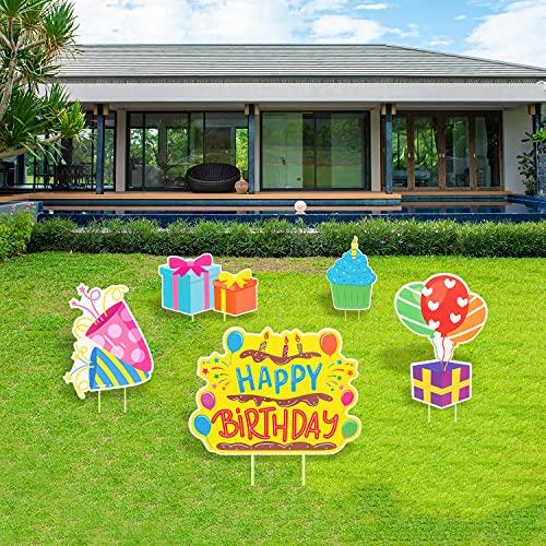 benpen Happy Birthday Yard Sign Decoration, Birthday Lawn Party Decorative...