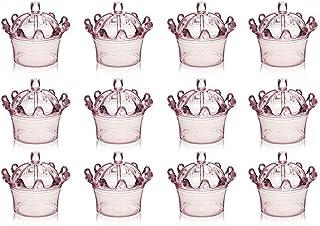 XZANTE 12 Piezas Cajas De Caramelo, Mini Cúpula De Plástico con Dise?o De