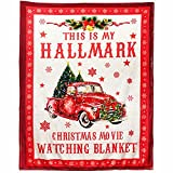 This is My Hall-Mark Christmas Movie Watching Fleece Blanket - Fun Merry Christmas Red Trucker Blanket Cozy Plush Fleece Blanket - 50x60 Inch