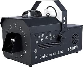 Tengchang 1500W DMX-512 LED Snow Machine w/Remote RGB 3in1 Stage Snowflake Maker Party Decor