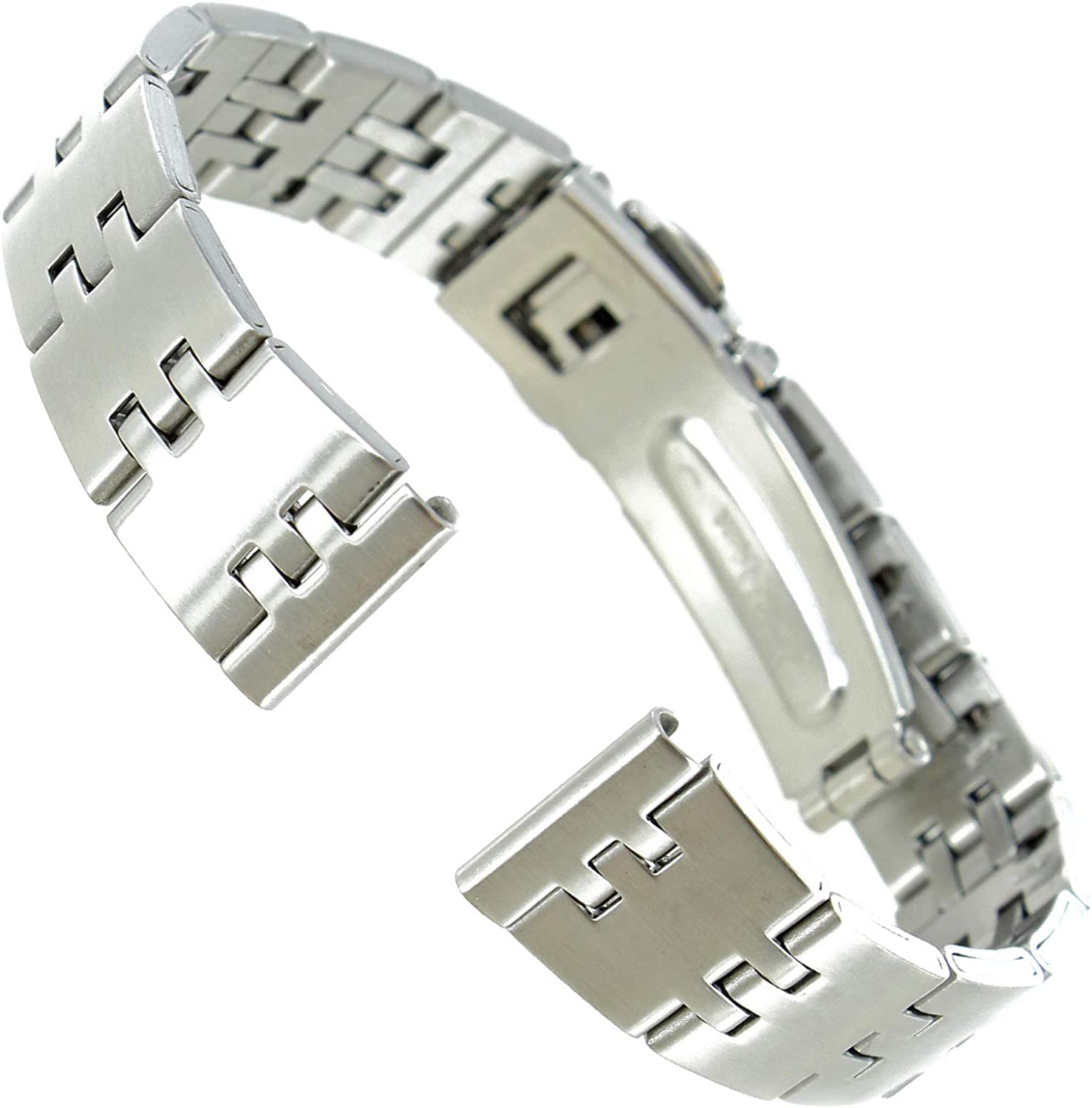 14mm Speidel Solid Puzzle Link Design Band Push Cheap super special price Watch Max 64% OFF Clasp Open