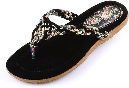 HAIZHEN Chaussures pour Femmes Chaussures Femme Talon Sandales Talons Extérieur Robe Casual Beige Noir pour Femmes (Couleur   Noir, Taille   EU39 UK6.5 CN40)