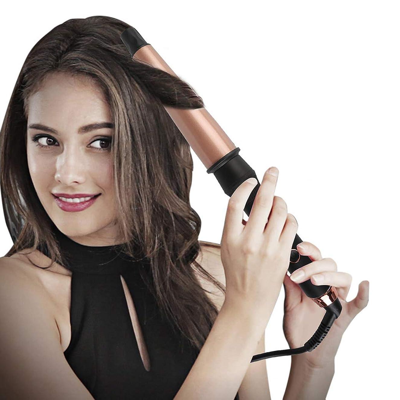 シンジケートちょっと待ってハイキングトルマリンセラミックカーリング鉄カーリングアイロンスパイラルヘアスティック手袋を送信する髪カーラーパーマ液晶自動カーリングアイロンポータブルヘアカーラー髪を傷つけるしない