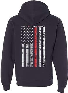 Patriot Apparel Hero Thin Red Line Firefighter Hooded Sweatshirt